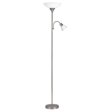 "Canarm IFL1051 - Floor, IFL10 BPT, 70""H 2 Light Floor Lamp, Frosted Glass, 100W Type A and 60W Type GC"