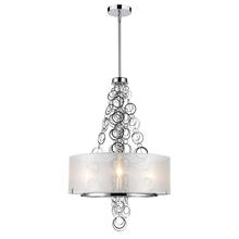 Golden Canada 5050-3 CH - Danica 3 Light Mini Chandelier in Chrome with Sheer Opal Shade
