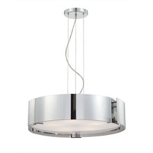 Eurofase Online 12531-042 - Dervish 5-Light Pendant, Chrome Finish