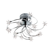 Eurofase Online 12898-015 - Starburst 15-Light Flushmount, Chrome Finish
