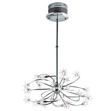 Eurofase Online 12899-012 - Starburst 24-Light Chandelier, Chrome Finish