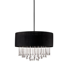 Eurofase Online 16035-010 - Penchant 6-Light Circular Pendant, Black Finish, Black Fabric Shade