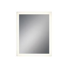 Eurofase Online 31486-019 - Rectangular Edge-Lit LED Mirror, Silver Frame, Dimmable Touch Sensor, 36 Inches High by 28.5 Inches