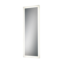 Eurofase Online 31487-016 - Linear Edge-Lit LED Mirror, Silver Frame, Dimmable Touch Sensor, 60 Inches High by 21 Inches Wide -