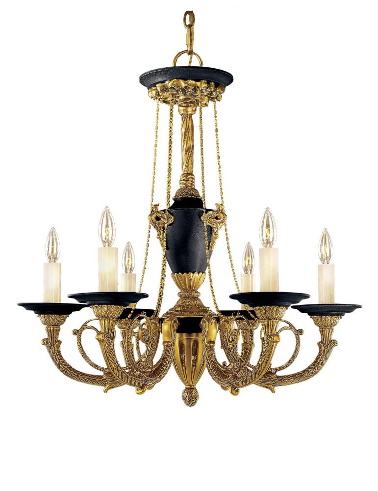 Gold dore gold w black accents up chandelier n6425 gd park gold dore gold w black accents up chandelier mozeypictures Image collections
