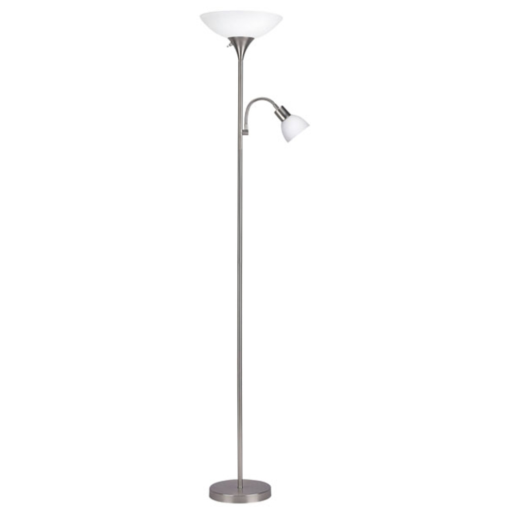 "Floor, IFL10 BPT, 70""H 2 Light Floor Lamp, Frosted Glass, 100W Type A and 60W Type GC"