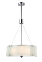 "Canarm ICH432A03CH19 - Ryker, ICH432A03CH19, 3 Lt Rod Chandelier, Frosted Glass with Diffuser, 100W Type A, 19"" W x 37"