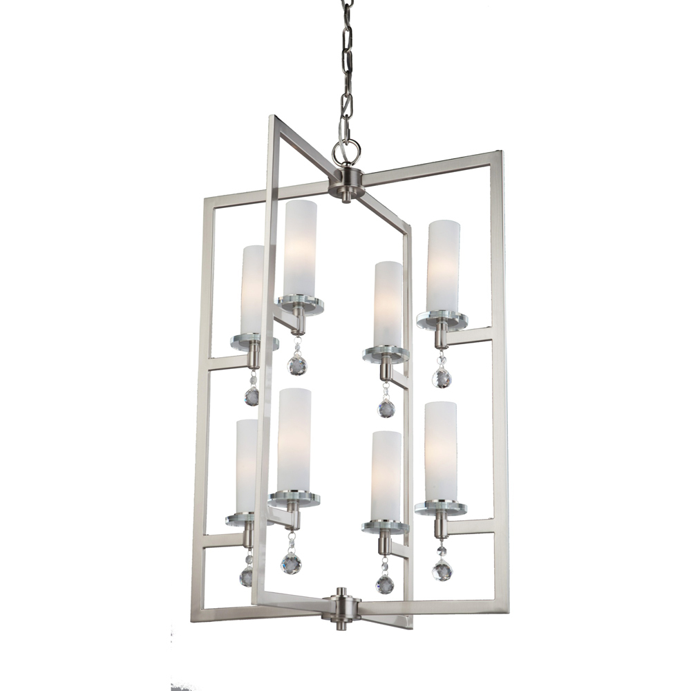 Melbourne 8 light brushed nickel chandelier ac10276 park lighting melbourne 8 light brushed nickel chandelier arubaitofo Images