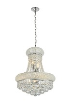 Elegant 1800D16C/RC - 1800 Primo Collection Hanging Fixture D16in H20in Lt:8 Chrome Finish (Royal Cut Crystal)