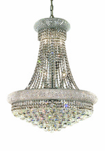 Elegant 1800D24C/RC - 1800 Primo Collection Hanging Fixture D24in H32in Lt:14 Chrome Finish (Royal Cut Crystals)