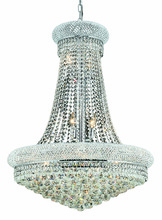 Elegant 1800D28C/RC - 1800 Primo Collection Hanging Fixture D28in H36in Lt:14 Chrome Finish (Royal Cut Crystals)