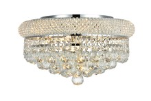Elegant 1800F16C/RC - 1800 Primo Collection Flush Mount D16in H8in Lt:8 Chrome Finish (Royal Cut Crystals)