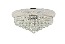 Elegant 1800F20C/RC - 1800 Primo Collection Flush Mount D20in H10in Lt:10 Chrome Finish (Royal Cut Crystals)