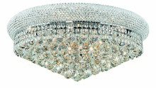 Elegant 1800F24C/RC - 1800 Primo Collection Flush Mount D24in H12in Lt:12 Chrome Finish (Royal Cut Crystals)