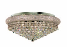 Elegant 1800F28C/RC - 1800 Primo Collection Flush Mount D28in H13in Lt:15 Chrome Finish (Royal Cut Crystals)