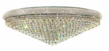 Elegant 1800F48C/RC - 1800 Primo Collection Flush Mount D48in H16in Lt:33 Chrome Finish (Royal Cut Crystals)