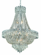 Elegant 1900D24C/RC - 1900 Century Collection Hanging Fixture D24in H32in Lt:12 Chrome Finish (Royal Cut Crystal)