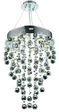 Elegant 2006D16C/RC - 2006 Galaxy Collection Hanging Fixture D16in H24in  Lt:7 Chrome Finish (Royal Cut Crystal)