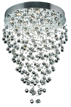 Elegant 2006D28C/RC - 2006 Galaxy Collection Hanging Fixture D28in H36in  Lt:12 Chrome Finish (Royal Cut Crystal)
