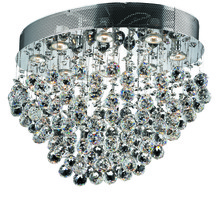 Elegant 2022F24C/RC - 2022 Galaxy Collection Flush Mount L24in W16in H16in Lt:8 Chrome Finish  (Royal Cut Crystals)