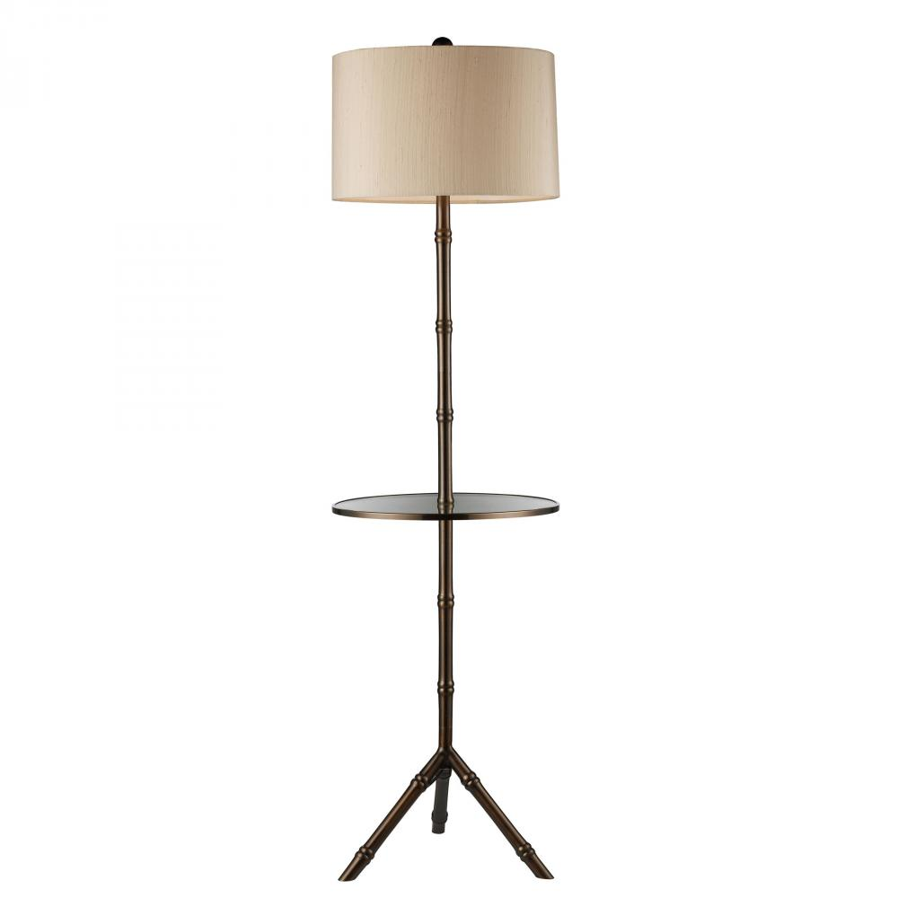 Stanton Floor Lamp In Dunbrook Finish With Glass Tray