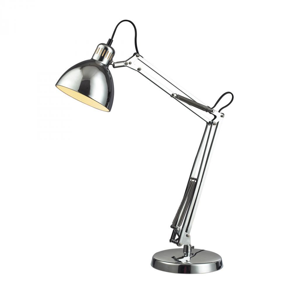 Ingelside Desk Lamp In Chrome With Chrome Shade