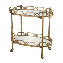 Dimond 114-136 - Curvilinear 2-Tier Tray Table In Antique Gold Le