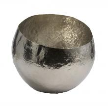 Dimond 346017 - Nickel Plated Hammered Brass Dish - Small