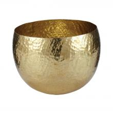 Dimond 346022 - Gold Hammered Brass Dish - Small