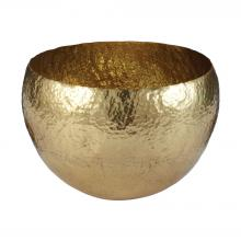 Dimond 346023 - Gold Hammered Brass Dish - Large