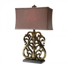 Dimond D1842 - Roseville Table Lamp In Oriole Gold Leaf