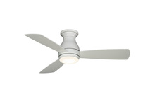 Fanimation FPS8332MWW - Hugh - 44 inch - Matte White with Matte White Blades and LED Light Kit - Wet Rated