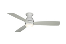 Fanimation FPS8355MWW - Hugh - 52 inch - Matte White with Matte White Blades and LED Light Kit - Wet Rated