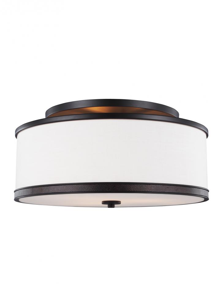 3 light indoor semi flush mount